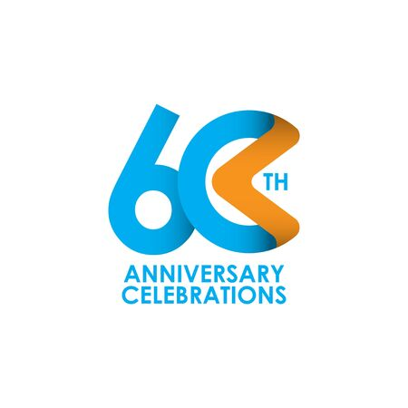 60 Years Anniversary Celebrating Vector Template Design Illustration