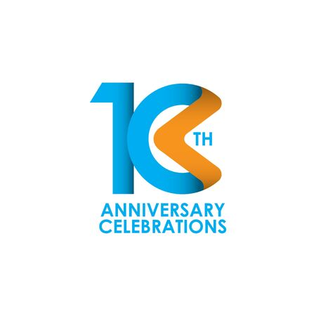 10 Years Anniversary Celebrating Vector Template Design Illustration 스톡 콘텐츠 - 129972146