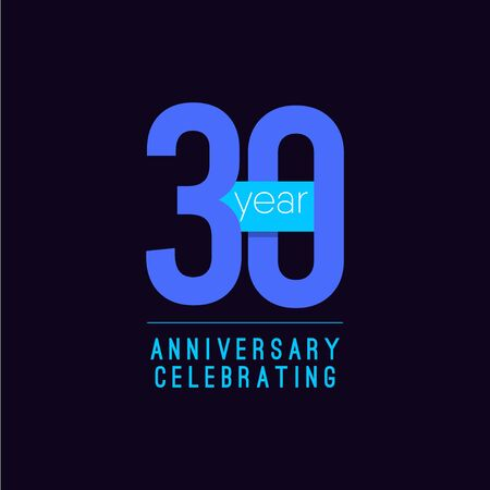 30 Years Anniversary Celebrating Vector Template Design Illustration 일러스트