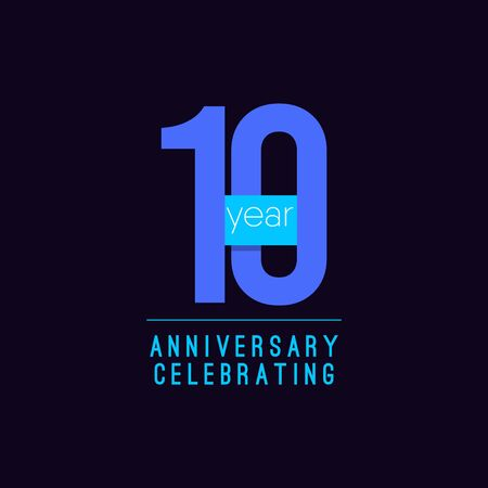 10 Years Anniversary Celebrating Vector Template Design Illustration