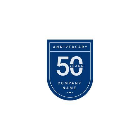 Célébration Anniversaire 50 Ans Votre Entreprise Vector Template Design Illustration