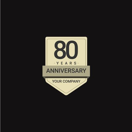 80 Years Anniversary Celebration Your Company Vector Template Design Illustration 일러스트