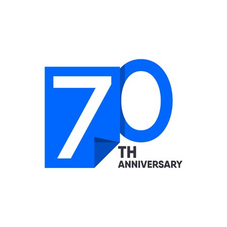 70 th Anniversary Celebration Your Company Vector Template Design Illustration