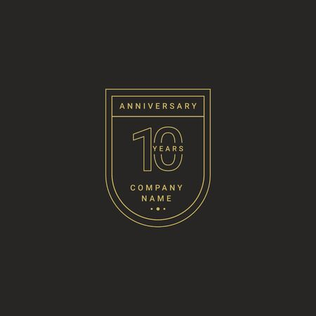 10 Years Anniversary Celebration Your Company Vector Template Design Illustration
