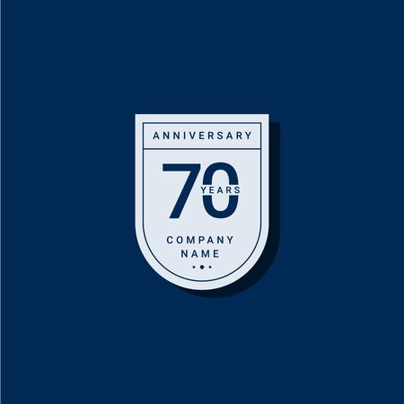 70 Years Anniversary Celebration Your Company Vector Template Design Illustration 일러스트