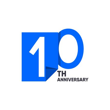 10 th Anniversary Celebration Your Company Vector Template Design Illustration 일러스트