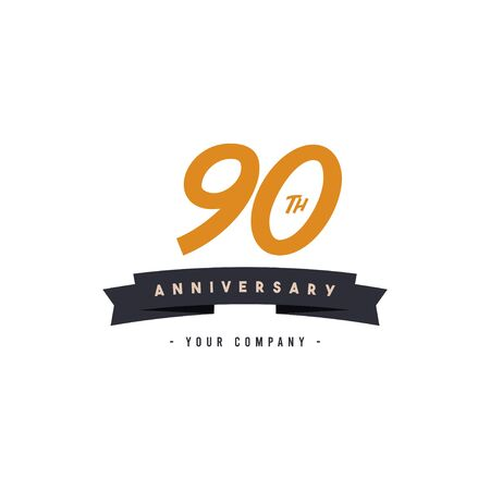 90 Years Anniversary Celebration Your Company Vector Template Design Illustration