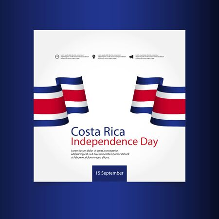 Costa Rica Independence Day Vector Template Design Illustration 스톡 콘텐츠 - 130020318