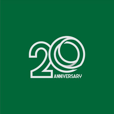 20 Years Anniversary Celebration Your Company Vector Template Design Illustration 일러스트
