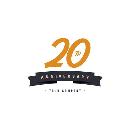 20 Years Anniversary Celebration Your Company Vector Template Design Illustration Illusztráció