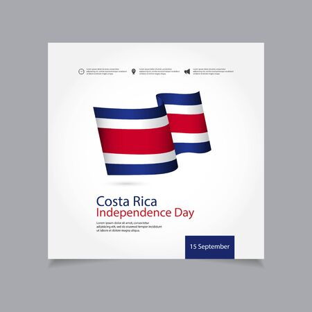 Costa Rica Independence Day Vector Template Design Illustration 스톡 콘텐츠 - 130020834
