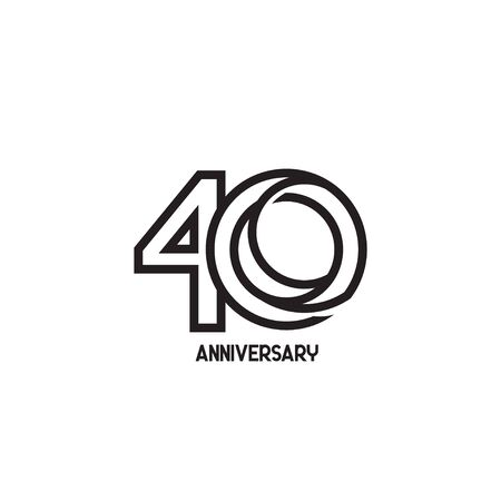 40 Years Anniversary Celebration Your Company Vector Template Design Illustration