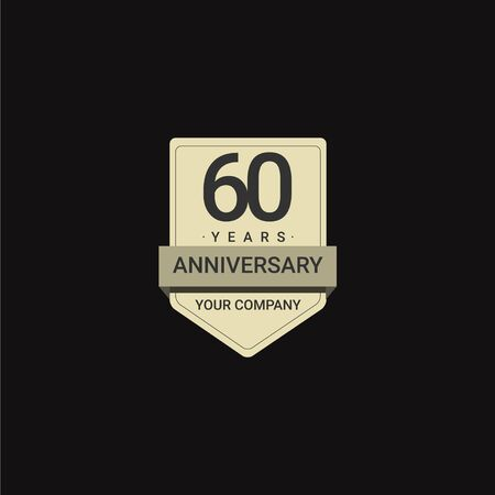 60 Years Anniversary Celebration Your Company Vector Template Design Illustration