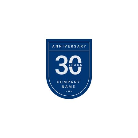 30 Years Anniversary Celebration Your Company Vector Template Design Illustration 일러스트