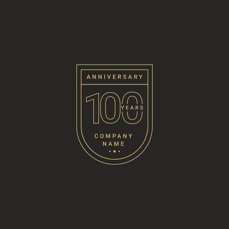 100 Years Anniversary Celebration Your Company Vector Template Design Illustration