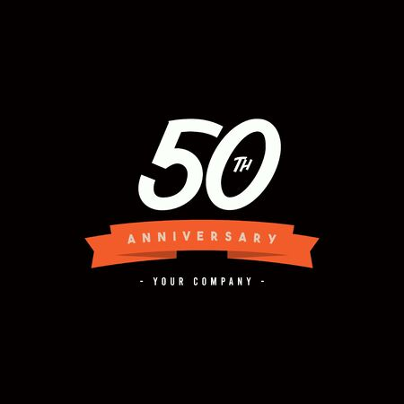50 Years Anniversary Celebration Your Company Vector Template Design Illustration