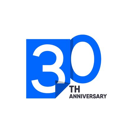 30 th Anniversary Celebration Your Company Vector Template Design Illustration