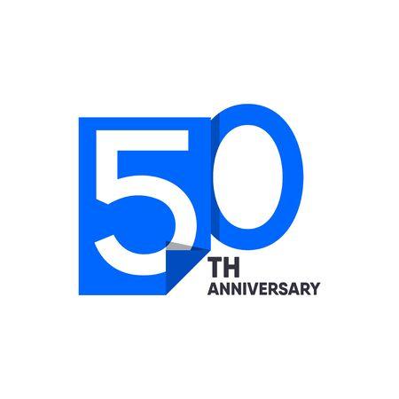 50 th Anniversary Celebration Your Company Vector Template Design Illustration