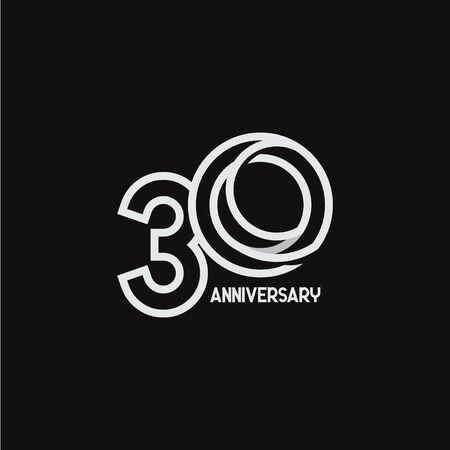 Celebrazione dell'anniversario di 30 anni la tua azienda Vector Template Design Illustration