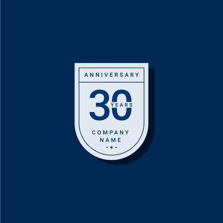 30 Years Anniversary Celebration Your Company Vector Template Design Illustration Ilustração