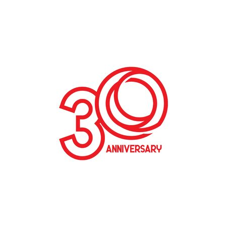 30 Years Anniversary Celebration Your Company Vector Template Design Illustration Çizim