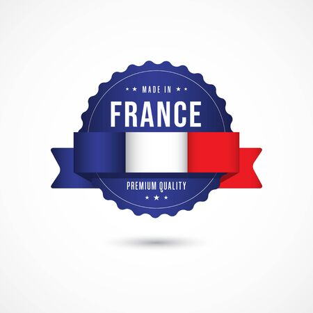 Made in France Premium Quality Label Badge Vector Template Design Illustration Illusztráció