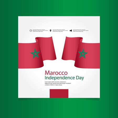 Morocco Independence Day Vector Template Design Illustration