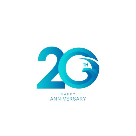 20 Years Anniversary Bird Model Vector Template Design Illustration