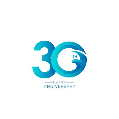 30 Years Anniversary Bird Model Vector Template Design Illustration