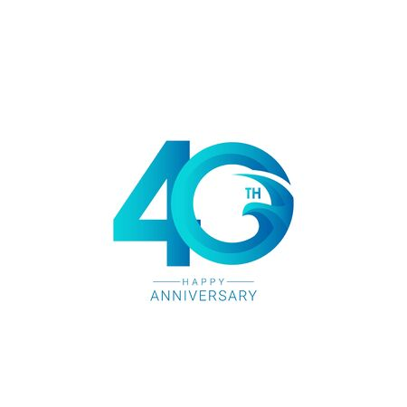 40 Years Anniversary Bird Model Vector Template Design Illustration