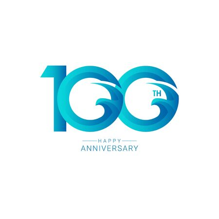 100 Years Anniversary Bird Model Vector Template Design Illustration  イラスト・ベクター素材