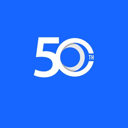 50 Th Anniversary Vector Template Design Illustration
