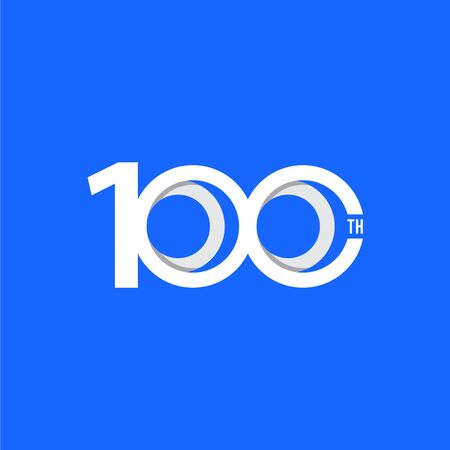 100 Th Anniversary Vector Template Design Illustration