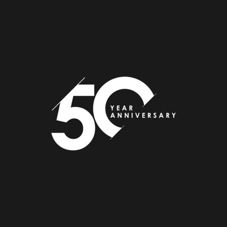 50 Years Anniversary Vector Template Design Illustration Stockfoto - 132147658