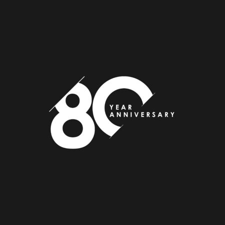 80 Years Anniversary Vector Template Design Illustration
