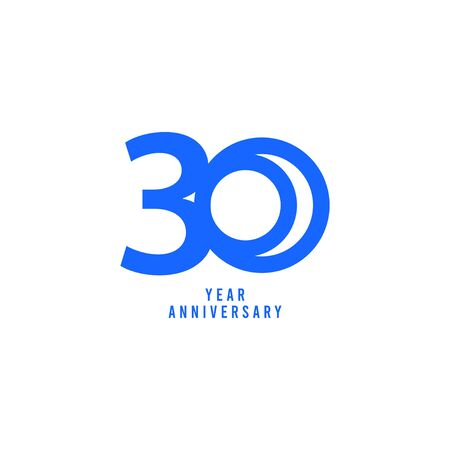 30 Years Anniversary Vector Template Design Illustration  イラスト・ベクター素材