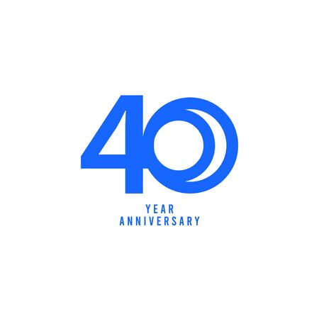 40 Years Anniversary Vector Template Design Illustration