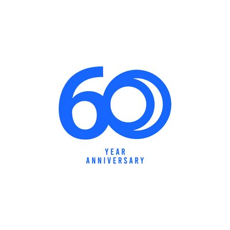 60 Years Anniversary Vector Template Design Illustration