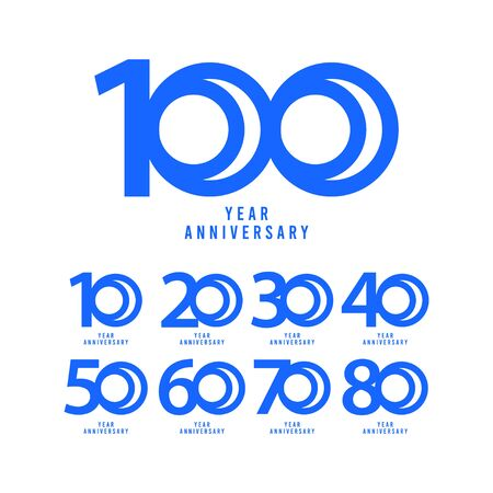 100 Years Anniversary Vector Template Design Illustration  イラスト・ベクター素材