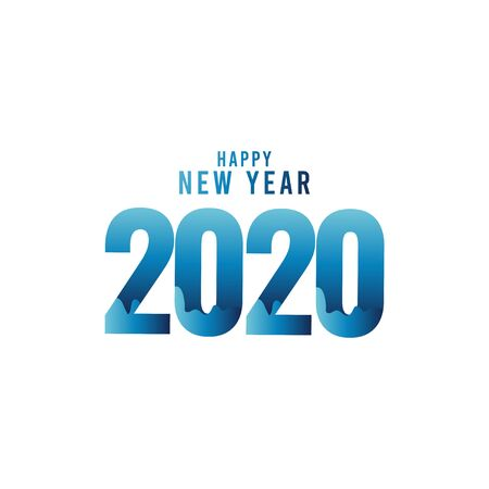 Happy New Year 2020 Celebration Vector Template Design Illustration Stock Illustratie
