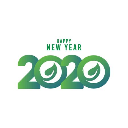 Happy New Year 2020 Celebration Vector Template Design Illustration Stockfoto - 132108510