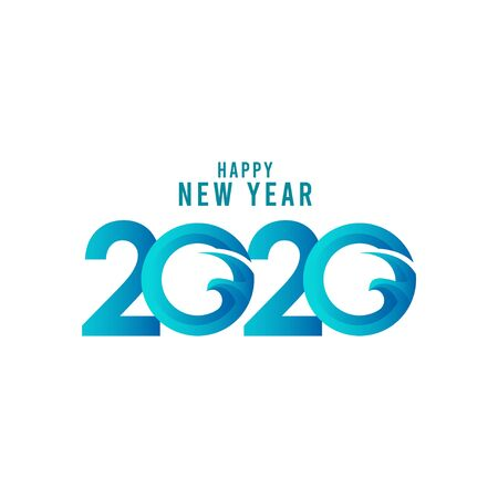Happy New Year 2020 Celebration Vector Template Design Illustration Stockfoto - 132108786