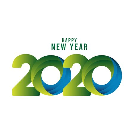 Happy New Year 2020 Celebration Vector Template Design Illustration Stockfoto - 132108930