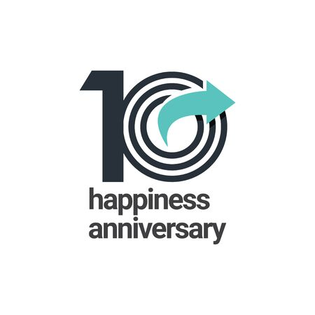 10 Years Happiness Anniversary Vector Template Design Illustration