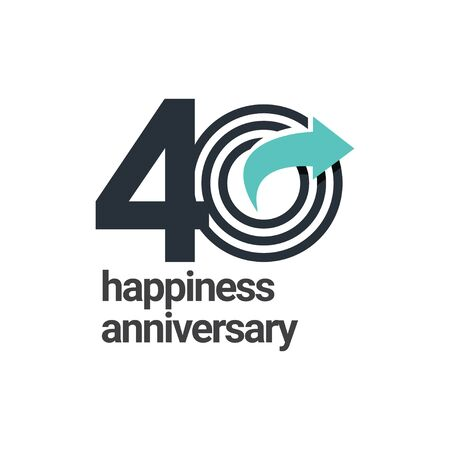 40 Years Happiness Anniversary Vector Template Design Illustration