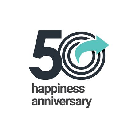 50 Years Happiness Anniversary Vector Template Design Illustration