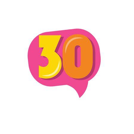 30 Years Kids Anniversary Vector Template Design Illustration Stock Illustratie