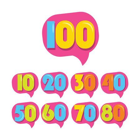 100 Years Kids Anniversary Vector Template Design Illustration Stockfoto - 132147828