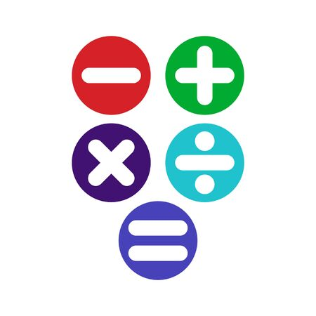 Learning Numbers Set for Kids Vector Template Design Illustration