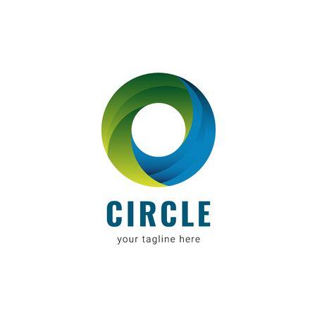 Circle Logo Gradient Vector Template Design Illustration Stock Illustratie